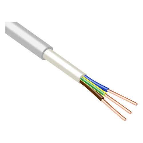 Кабель ЭлПроКабель NUM-J 3x2.5мм2 10м ГОСТ медь серый кабель