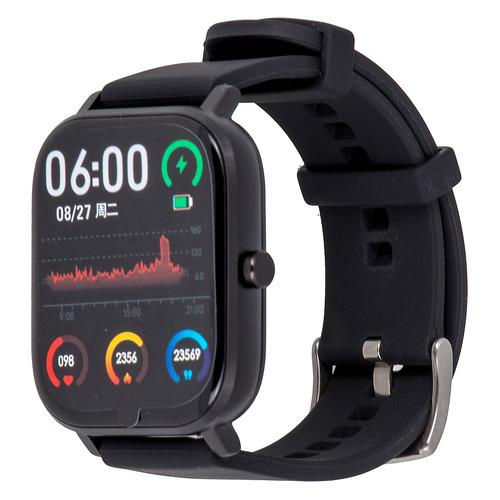 Смарт-часы SMARTERRA SmartLife Alcor, 43.4мм, 1.54, черный / черный [sm-slalcrbl] smarterra smartlife kids light blue sm slkb