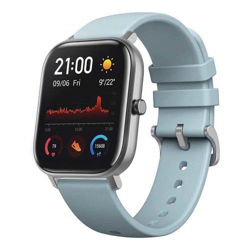 Смарт-часы SMARTERRA SmartLife Alcor, 43.4мм, 1.54, серебристый / голубой [sm-slalcslv] smarterra smartlife kids light blue sm slkb