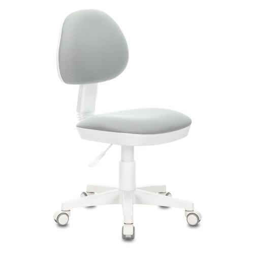Кресло детское БЮРОКРАТ KD-3, на колесиках, ткань, серый [kd-3/wh/26-40]