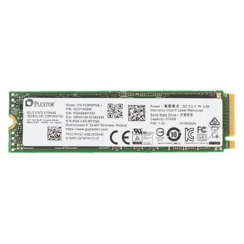 SSD накопитель PLEXTOR M9PGN Plus PX-512M9PGN+ 512ГБ, M.2 2280, PCI-E x4, NVMe