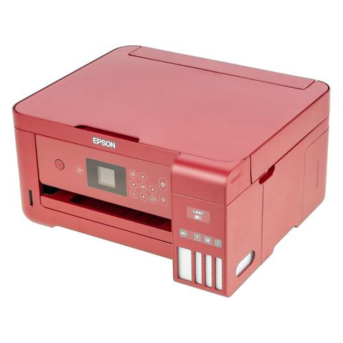 цена на МФУ струйный EPSON L4167, A4, цветной, струйный, красный (RED) [c11cg23404]