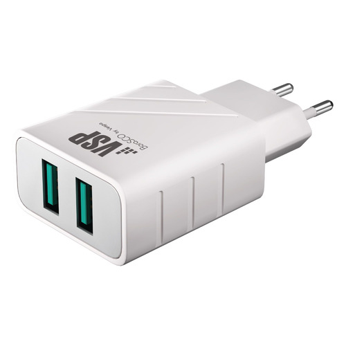 Фото - Сетевое зарядное устройство BORASCO 37261, 2xUSB, 2.4A, белый rt 2xusb