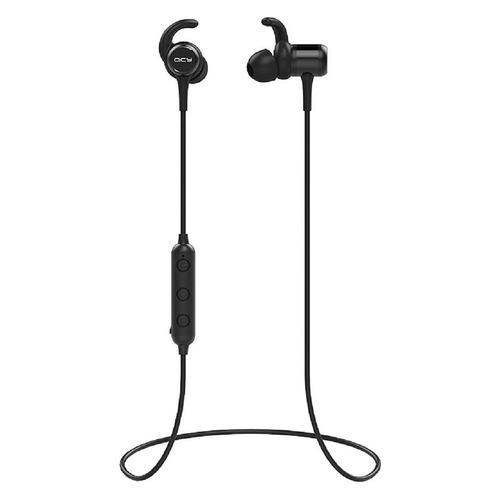 Наушники с микрофоном QCY M1C, Bluetooth, вкладыши, черный цена 2017