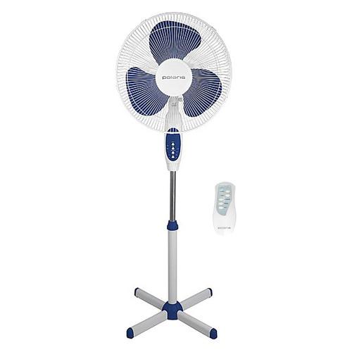 Вентилятор напольный POLARIS PSF 2840 RC, белый и синий
