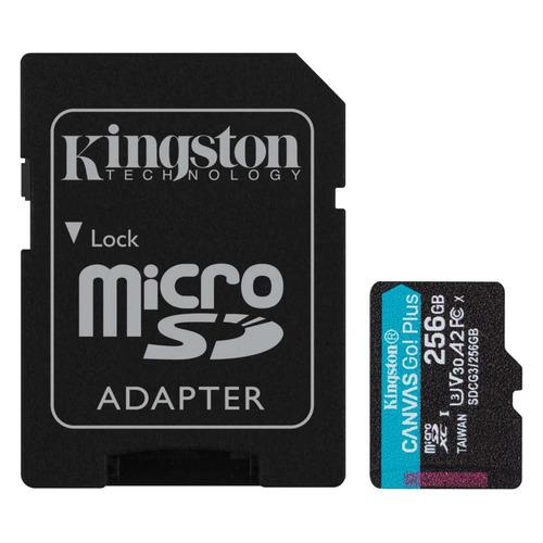 Фото - Карта памяти microSDXC UHS-I U3 Kingston Canvas Go! Plus 256 ГБ, 170 МБ/с, Class 10, SDCG3/256GB, 1 шт., переходник SD карта памяти sdxc uhs i u3 kingston canvas go plus 512 гб 170 мб с class 10 sdg3 512gb 1 шт