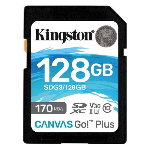 Фото - Карта памяти SDXC UHS-I U3 KINGSTON Canvas Go! Plus 128 ГБ, 170 МБ/с, Class 10, SDG3/128GB, 1 шт. карта памяти compact flash kingston canvas focus 128 гб