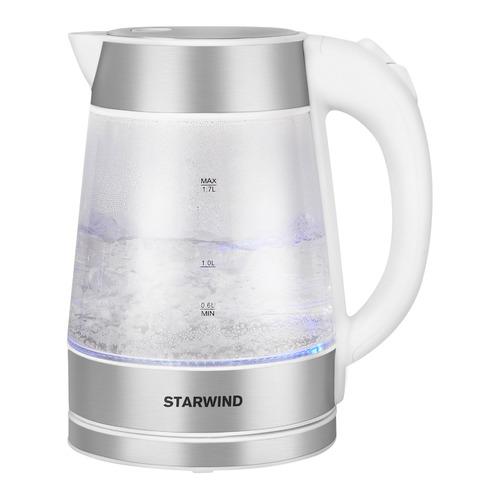 Чайник электрический StarWind SKG2011, 2200Вт, белый и серебристый