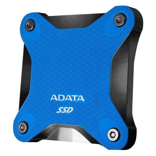 Фото - Внешний диск SSD A-DATA SD600Q, 480ГБ, синий [asd600q-480gu31-cbl] внешний диск ssd a data se800 512гб синий [ase800 512gu32g2 cbl]