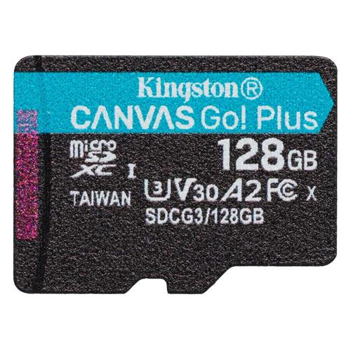 Фото - Карта памяти microSDXC UHS-I U3 KINGSTON Canvas Go! Plus 128 ГБ, 170 МБ/с, Class 10, SDCG3/128GBSP, 1 шт. карта памяти compact flash kingston canvas focus 128 гб