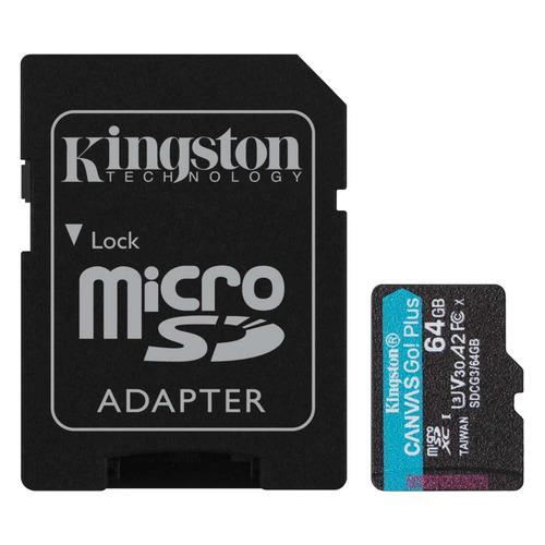 Фото - Карта памяти microSDXC UHS-I U3 KINGSTON Canvas Go! Plus 64 ГБ, 170 МБ/с, Class 10, SDCG3/64GB, 1 шт., переходник SD модель трактора siku модель трактора с прицепом с бревнами 1 87 1861