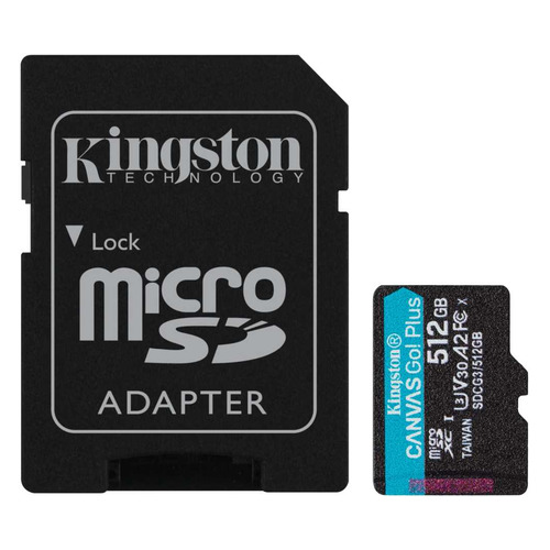 Фото - Карта памяти microSDXC UHS-I U3 Kingston Canvas Go! Plus 512 ГБ, 170 МБ/с, Class 10, SDCG3/512GB, 1 шт., переходник SD карта памяти sdxc uhs i u3 kingston canvas go plus 512 гб 170 мб с class 10 sdg3 512gb 1 шт