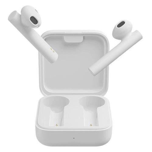 Наушники с микрофоном XIAOMI Mi True Wireless Earphones 2 Basic, Bluetooth, вкладыши, белый [bhr4089gl] наушники с микрофоном harper hb 302 bluetooth вкладыши белый [h00002046]