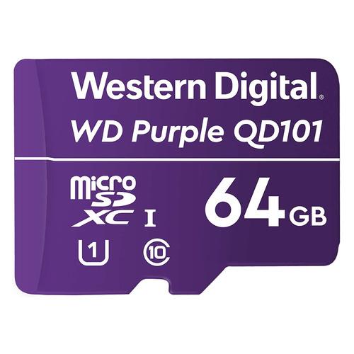 Фото - Карта памяти microSDXC UHS-I U1 WD Purple 64 ГБ, Class 10, WDD064G1P0C, 1 шт. карта памяти microsdxc apacer 64 гб class 10 uhs i u1