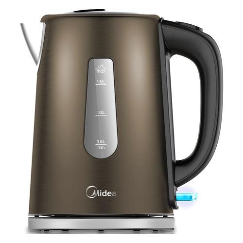 Чайник электрический MIDEA MK-8061, 2200Вт, бронзовый чайник электрический midea mk 8060 2200вт темно фиолетовый