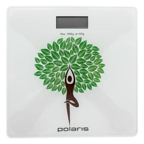 Напольные весы Polaris PWS 1876DG Yogatree, до 180кг, цвет: рисунок