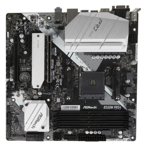 Материнская плата ASROCK B550M PRO4, SocketAM4, AMD B550, mATX, Ret материнская плата asrock fm2a68m dg3 socket fm2 amd a68h matx ret
