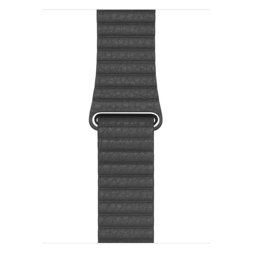 Ремешок Apple Leather Loop для Apple Watch Series 3/4/5/6/SE черный (MXAA2ZM/A) 44мм