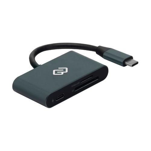 Картридер внешний DIGMA CR-СP2513-G, серый картридер внешний buro bu cr 110 черный