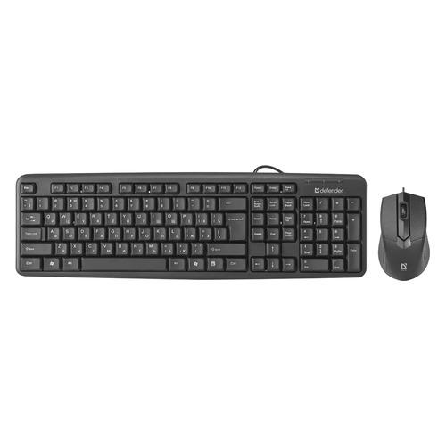 Фото - Комплект (клавиатура+мышь) DEFENDER Dakota C-270, USB 2.0, проводной, черный [45270] клавиатура и мышь defender dakota c 270 black usb