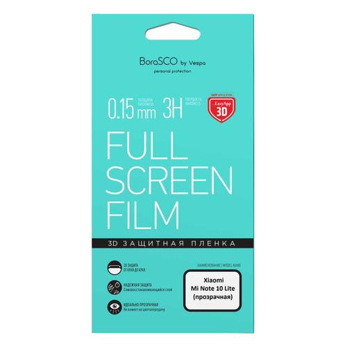 Фото - Защитная пленка для экрана BORASCO для Xiaomi Mi Note 10 Lite, прозрачная, 1 шт [39033] защитная пленка для экрана borasco для xiaomi mi note 10 антиблик 3d 1 шт [38279]