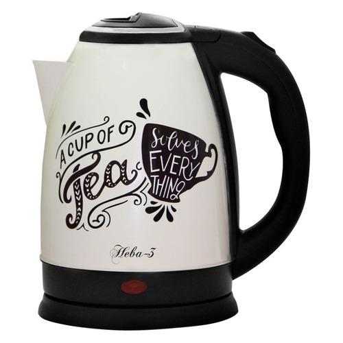 Чайник электрический ВЕЛИКИЕ РЕКИ Нева-3, 1500Вт, белый и рисунок чайник электрический великие реки нева 2 1 8л 2000вт белый корпус нержавеющая сталь