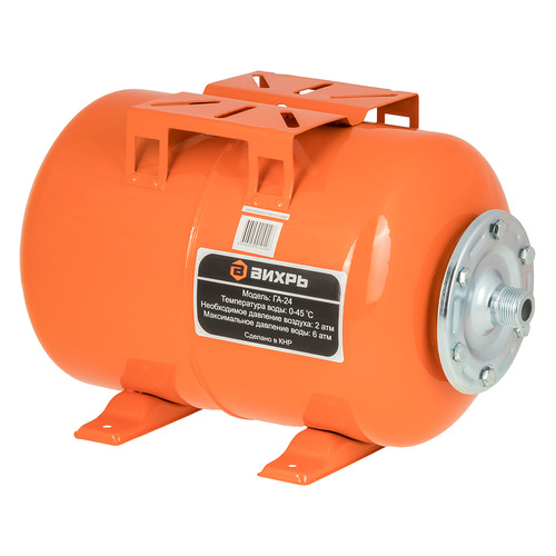Гидроаккумулятор Вихрь ГА-24 24л 6бар оранжевый (68/6/1) гидроаккумулятор вихрь га 50