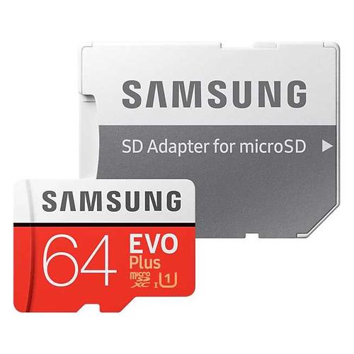 Фото - Карта памяти microSDXC UHS-I U1 SAMSUNG EVO PLUS 64 ГБ, 100 МБ/с, Class 10, MB-MC64HA/RU, 1 шт., переходник SD samsung microsd evo plus 256gb mb mc256ha ru