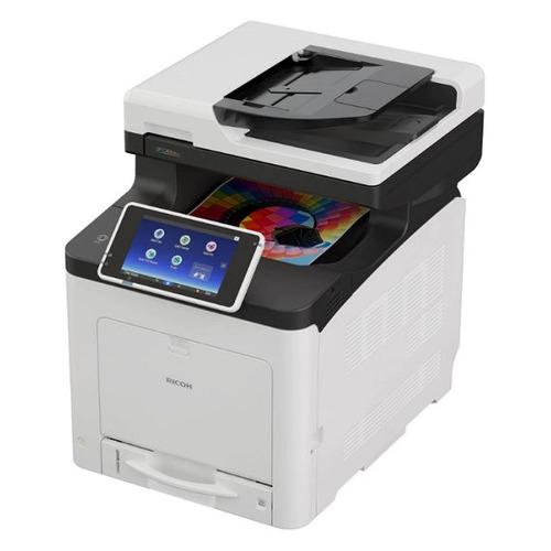 МФУ лазерный Ricoh SP C360SFNw, A4, цветной, светодиодный, черно-белый [408171]