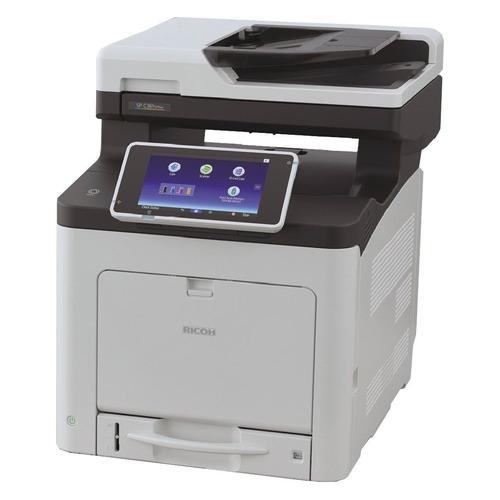 МФУ лазерный Ricoh SP C361SFNw, A4, цветной, светодиодный, черно-белый [408175]