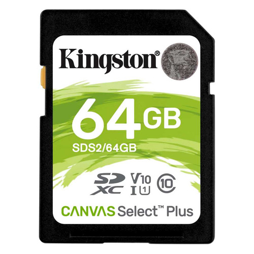 Фото - Карта памяти SDXC UHS-I KINGSTON Canvas Select Plus 64 ГБ, 100 МБ/с, Class 10, SDS2/64GB, 1 шт. планшет huawei mediapad m5 10 10 8 64gb 4gb ram lte grey