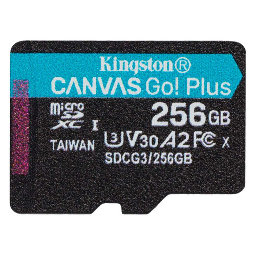 Фото - Карта памяти microSDXC UHS-I U3 Kingston Canvas Go! Plus 256 ГБ, 170 МБ/с, Class 10, SDCG3/256GBSP, 1 шт. карта памяти sdxc uhs i u3 kingston canvas go plus 512 гб 170 мб с class 10 sdg3 512gb 1 шт