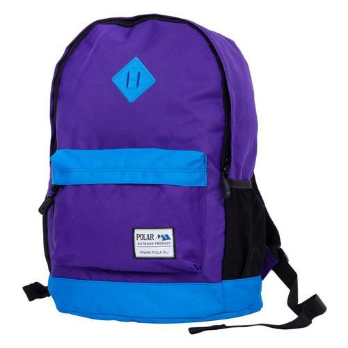 Рюкзак Polar 15008 (15008 PURPLE-BLUE) 29x43x18см 22.5л. 0.5кг. полиэстер/нейлон фиолетовый рюкзак polar к9276