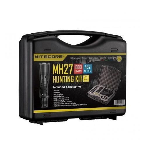 Фото - Ручной фонарь NITECORE MH27 Hunting Kit, черный [17397] тактический фонарь nitecore mh27 черный