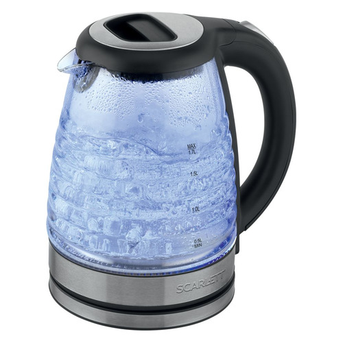 Фото - Чайник электрический SCARLETT SC-EK27G73, 2000Вт, черный чайник scarlett sc ek27g73 1 7l