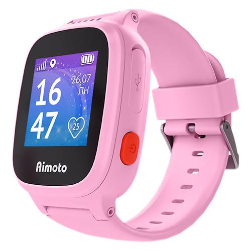 Смарт-часы КНОПКА ЖИЗНИ Aimoto Единорог, 1.44, розовый / розовый [8001101] умные часы кнопка жизни aimoto rapunzel