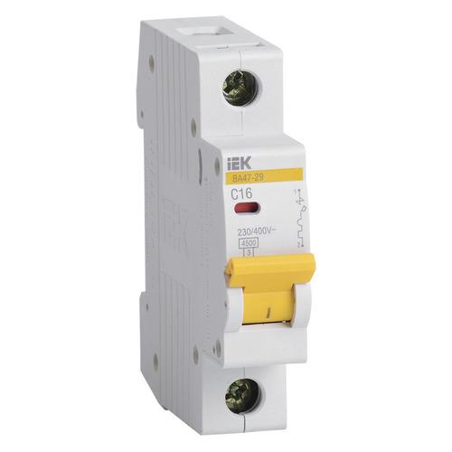 Выключатель автоматический IEK ВА47-29 (MVA20-1-016-C) 16A тип C 4.5kA 1П 230/400В 1мод белый