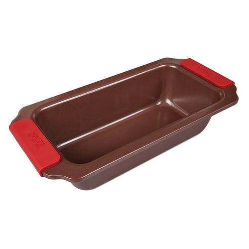 Форма для выпечки Taller TR-66301 прямоуг. 28х14х6.5см сталь углеродистая коричневый (66301) форма прямоугольная taller tr 6303 40 27 4 5см