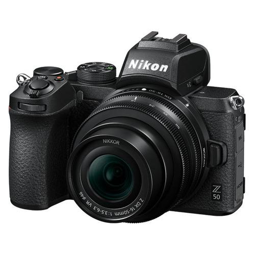 Фото - Фотоаппарат Nikon Z50 черный 20.9Mpix 3.2 4K WiFi Nikkor Z DX 16-50 f/3.5-6.3 VR DX 50-250 f/4.5-6. объектив nikon 35mm f 1 8 nikkor z nikon z черный [jma102da]
