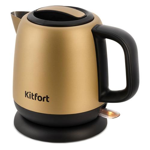Чайник электрический KITFORT KT-6111, 1630Вт, золотистый и черный