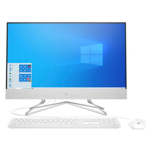 "Моноблок HP 24-df0032ur, 23.8"", Intel Pentium Silver J5040, 4ГБ, 128ГБ SSD, Intel UHD Graphics 605, Windows 10, белый [14q03ea]"