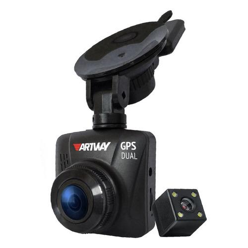 Видеорегистратор ARTWAY AV-398 GPS Dual Compact, черный