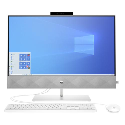 Моноблоки, Моноблок HP Pavilion 27-d0005ur, 27 , Intel Core i3 10300T, 4ГБ, 128ГБ SSD, Intel UHD Graphics 630, Windows 10, белый [14q40ea]  - купить со скидкой