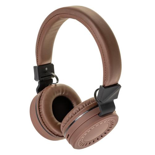 Наушники с микрофоном ROMBICA Mysound BH-11, 3.5 мм/Bluetooth, накладные, коричневый [bt-h018] беспроводные наушники gal bh 2001 2018 black