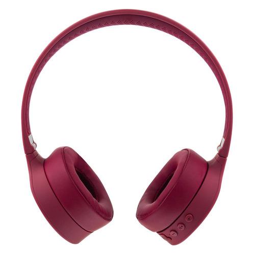 Наушники с микрофоном ROMBICA Mysound BH-08, 3.5 мм/Bluetooth, накладные, красный [bt-h011] беспроводные наушники gal bh 2001 2018 black