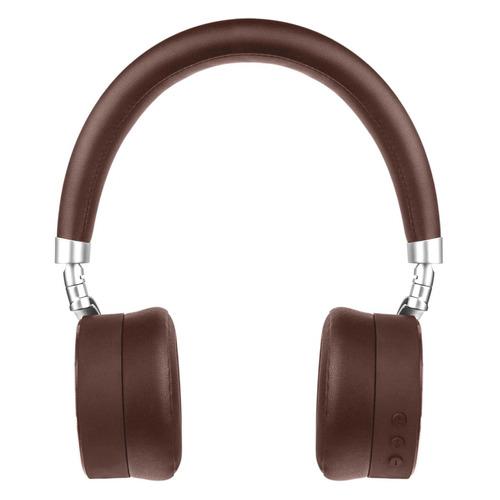 Наушники с микрофоном ROMBICA Mysound BH-12, 3.5 мм/Bluetooth, накладные, коричневый [bt-h016] беспроводные наушники gal bh 2001 2018 black