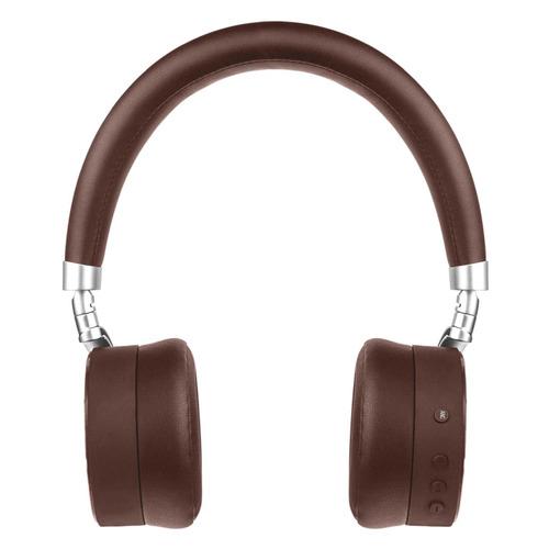 Наушники с микрофоном ROMBICA Mysound BH-13 ANC, 3.5 мм/Bluetooth, накладные, коричневый [bt-h020] беспроводные наушники gal bh 2001 2018 black