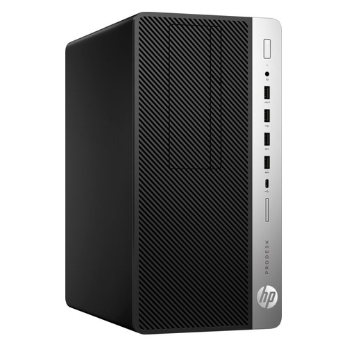 Компьютер HP ProDesk 600 G5, Intel Core i5 9500, DDR4 8ГБ, 256ГБ(SSD), Intel UHD Graphics 630, DVD-RW, Windows 10 Professional, черный [7ac24ea] рабочая станция lenovo thinkstation p330 tiny intel core i5 9500 ddr4 8гб 256гб ssd intel uhd graphics 630 windows 10 professional черный [30cf003fru]