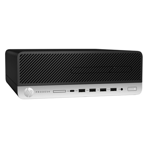Компьютер HP ProDesk 600 G5, Intel Core i3 9100, DDR4 8ГБ, 256ГБ(SSD), Intel UHD Graphics 630, DVD-RW, Windows 10 Professional, черный [7ac42ea] компьютер
