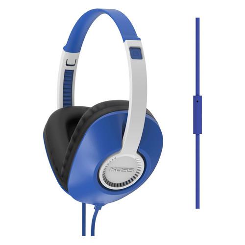 Гарнитура Koss UR23iB, 3.5 мм, накладные, синий/белый [15118056]